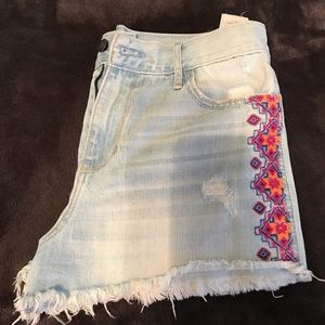 Hollister Embroidered Shorts